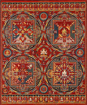 Tibetan, Central Tibet, Tsang (Ngor Monastery), Sakya order - Four Mandalas of the Vajravali Series - Google Art Project.jpg