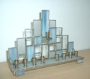 A modern Tiffany Hanukkah menorah. Source: Wikipedia
