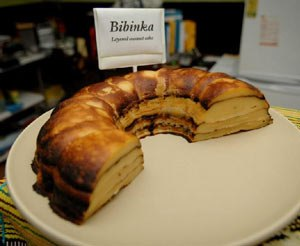 Cuisine of East Timor - Bibinka - a grilled and layered coconut cake.