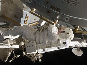 Timothy Kopra - Kopra making a spacewalk during the STS-127 mission.