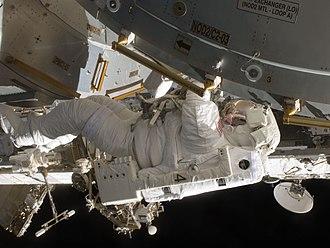 Timothy Kopra - Kopra making a spacewalk during the STS-127 mission.