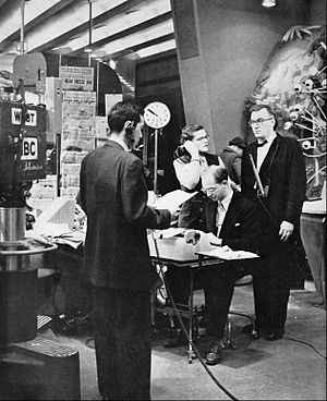 Dave Garroway - Garroway and crew on the Today show set (1952)