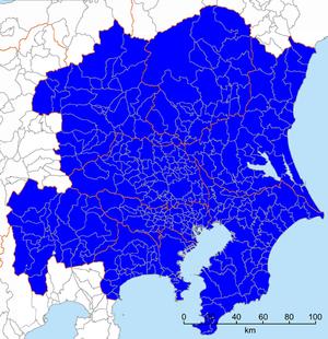 首都圏整備法による首都圏の範囲(青色の部分) 日本における首都圏(しゅ...  Wikipedi