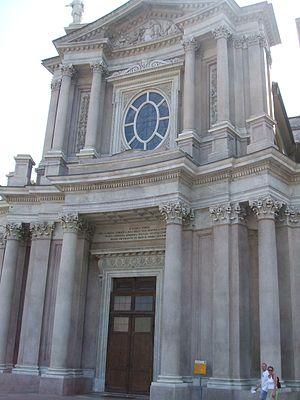 San Carlo Borromeo, Turin - Facade of San Carlo.