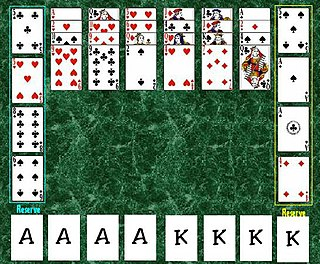 Tournament (solitaire) card game played by one person