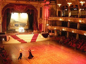 Blackpool Tower - A couple dances on the floor of the Tower Ballroom