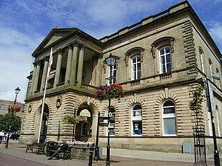 Accrington town in the Hyndburn borough of Lancashire, England
