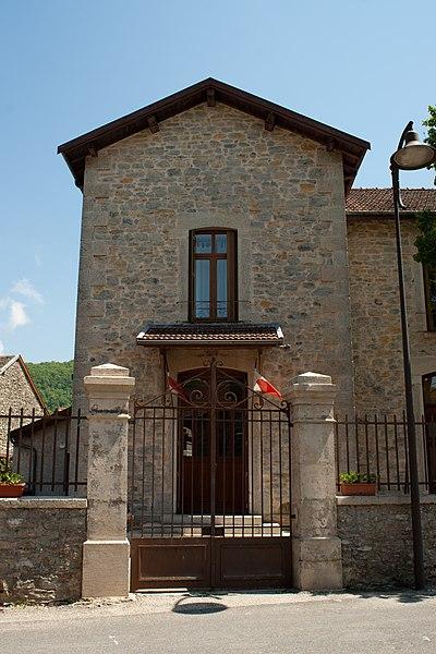 Townhall of Seillonnaz, France.