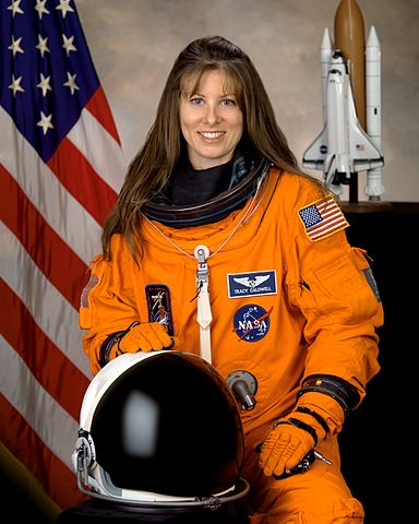 Astronaut Tracy E. Caldwell, STS 118 mission specialist, NASA photo Source: Wikipedia (spaceflight.nasa.gov killed 25 Feb 2021) 384px-Tracy_E_Caldwell_portrait.jpg