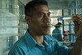 Trainee nurse Kirobati Tebana at South Tarawa Hospital. Kiribati 2007. Photo- Lorrie Graham (10730431044).jpg