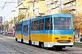 Tram in Sofia near Russian monument 023.jpg