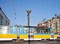 Tram in Sofia near Sofia statue 2012 PD 035.jpg