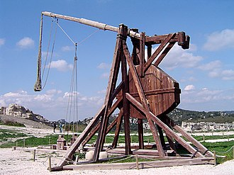 Potential energy - A trebuchet uses the gravitational potential energy of the counterweight to throw projectiles over two hundred meters