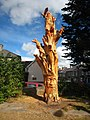Tree sculpture in St Clare Street Penzance - geograph.org.uk - 1505750.jpg