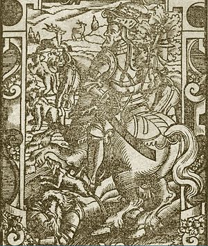 Treniota - Depiction of Treniota from chronicles of Alexander Guagnini, published in 1578