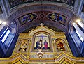Trieste Tempio serbo-ortodosse della Santissima Trinità e di San Spiridone Innen Iconoastasi 3.jpg