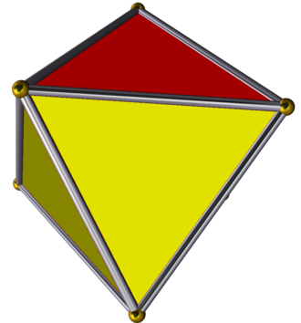 Prismatic uniform polyhedron - Image: Trigonal antiprism