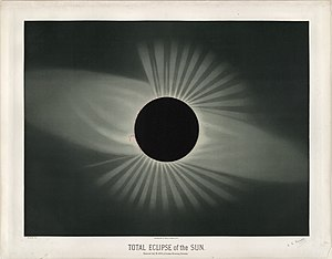 Solar eclipse of July 29, 1878 - Image: Trouvelot Total eclipse of the sun 1878
