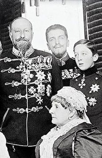 Princess Clotilde of Saxe-Coburg and Gotha - Clotilde with her brother, Tsar Ferdinand of Bulgaria, and nephew Kiril