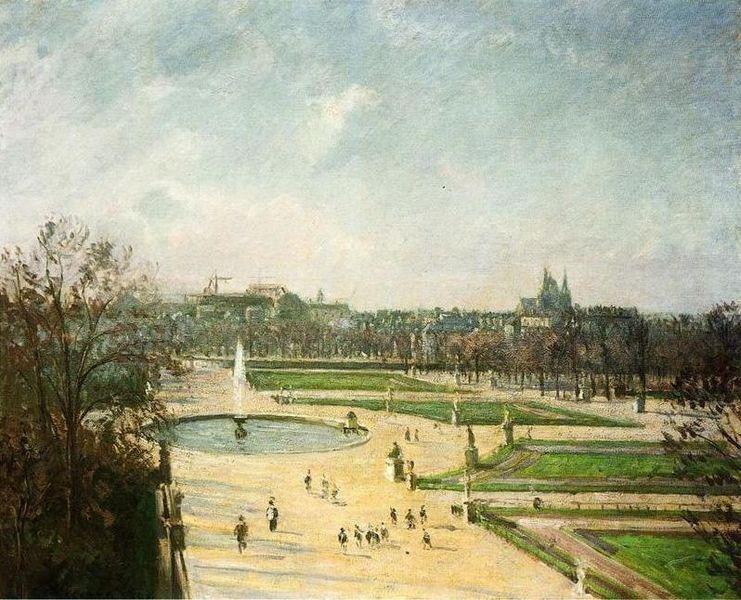 ファイル:Tuileries Gardens, Afternoon, Sun 1900 Pissarro.jpg