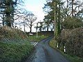 Turning for Honeychurch - geograph.org.uk - 1726899.jpg
