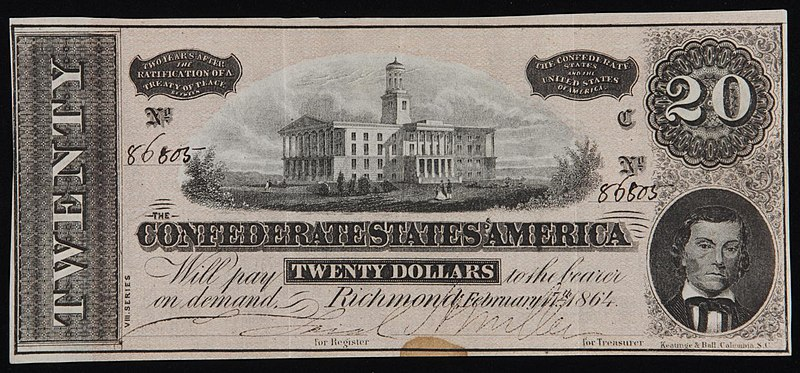 File:Twenty dollar bill Confederate States of America 1864.jpg