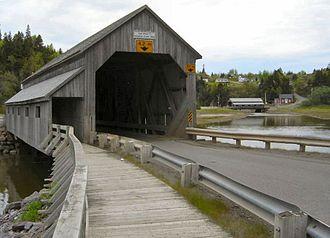 St. Martins, New Brunswick - Image: Twin bridges 06 05