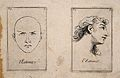 Two faces (one outlined, the other of a long-haired youth) e Wellcome V0009378.jpg