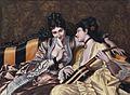 Two ladies on a sofa, by Luis Ricardo Falero.jpg