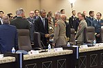U.S. President Barack Obama meets with military leaders from 22 nations to discuss strategy in the Middle East during a conference at Joint Base Andrews, Md., Oct 14, 2014 ID16871.jpg