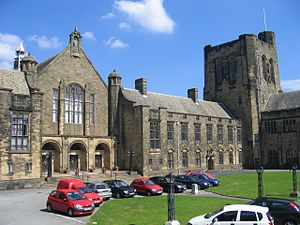 Bangor University - The quadrangle in the main college building on College Road
