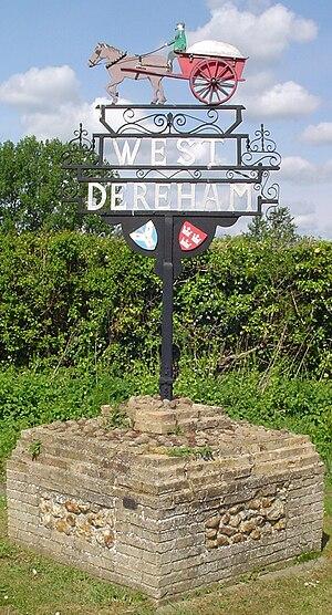 West Dereham - Signpost in West Dereham