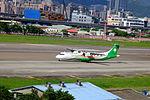 UNI Air ATR 72-600 B-17015 Departing from Taipei Songshan Airport 20150908a.jpg