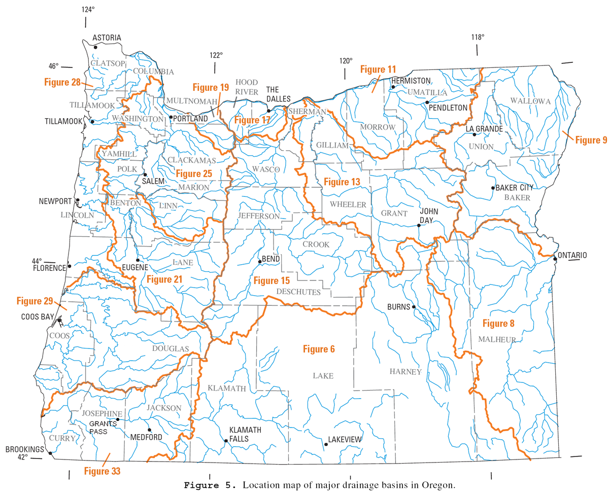 List Of Rivers Of Oregon Wikipedia - Map of all us rivers