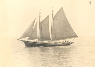 United States Coast Guard Academy -  Historic photograph of the USRC Dobbin