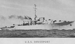 USS Davenport (PF 69) Commissioning Program photo