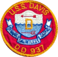 USS Davis (DD-937) earlier patch 1957.png