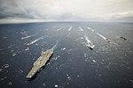 USS George Washington Strike Group with Japanese ships during Annualex 2013.JPG
