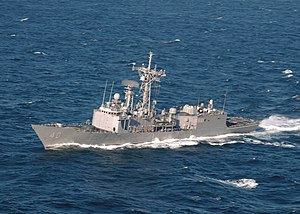 USS Halyburton (FFG 40) does work-ups off the coast of Mayport 2006.jpg