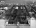 USS Yorktown (CV-5) and USS Enterprise (CV-6) under construction at Newport News Shipbuilding, circa in 1936 (19-LC-Box 24).jpg