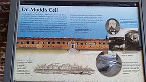 Samuel Mudd - National Park Service marker for Samuel Mudd at Fort Jefferson
