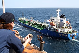 Action of 28 October 2007 - The MV Golden Nori was refueled after being released