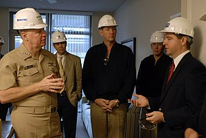 Project manager - US Navy 080111-N-8273J-033 Chief of Naval Operations (CNO) Adm. Gary Roughead (left) talks with project managers