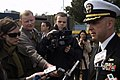 US Navy 080820-N-9123L-005 Cmdr. John S. Banigan answers questions from Australian media.jpg