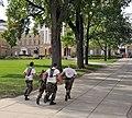 US Navy 091010-N-8848T-018 University of Wisconsin Navy ROTC midshipmen run up Bascom Hill during an urban adventure run on the University of Wisconsin-Madison campus.jpg
