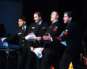 "The Twelve Days of Christmas (song) - Members of the Navy Sea Chanters sing their comedy version of ""The Twelve Days of Christmas"" on 4 December 2009, at the Wallace Theater, Ft. Belvoir, Va."