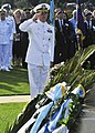 US Navy 100522-N-0780F-001 Capt. Thomas J. McDonough, commanding officer of U.S. Naval Support Activity Souda Bay, renders a salute after laying a wreath at the Allied War Cemetery of Souda.jpg