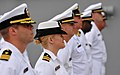 US Navy 110421-N-DX615-006 Officers stand in ranks during the U.S. 3rd Fleet change of command ceremony aboard the amphibious assault ship USS Maki.jpg