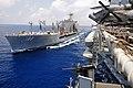 US Navy 110427-N-ZS026-101 The Military Sealift Command fleet replenishment oiler USNS Joshua Humphreys (T-AO 188), left, refuels the amphibious as.jpg
