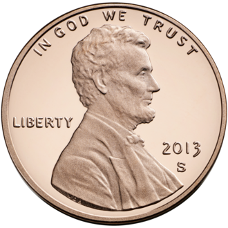 Cent (currency) - A United States one-cent coin, also known as a penny